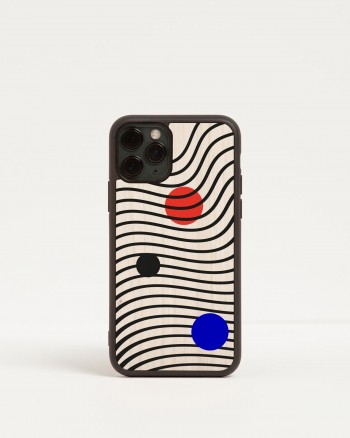 optical iphone wooden case by wood'd - front