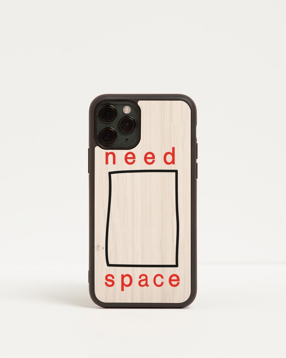 need space iphone case by wood'd - front