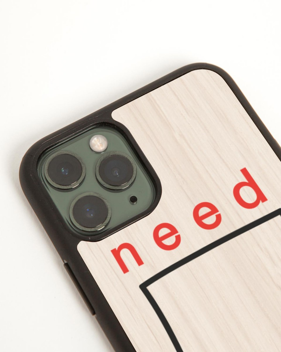 need space iphone case by wood'd - side