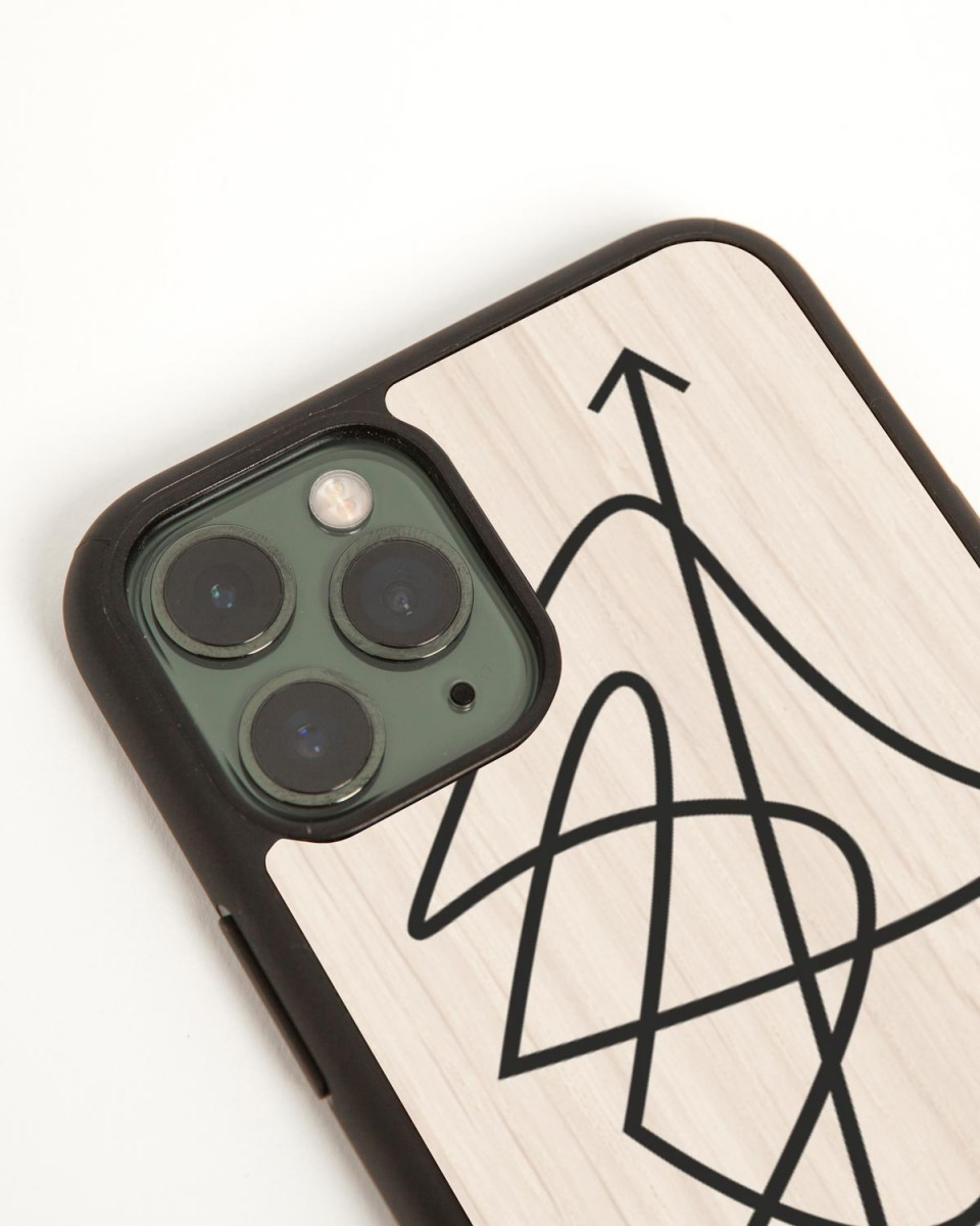 wood'd link in bio iphone case - side