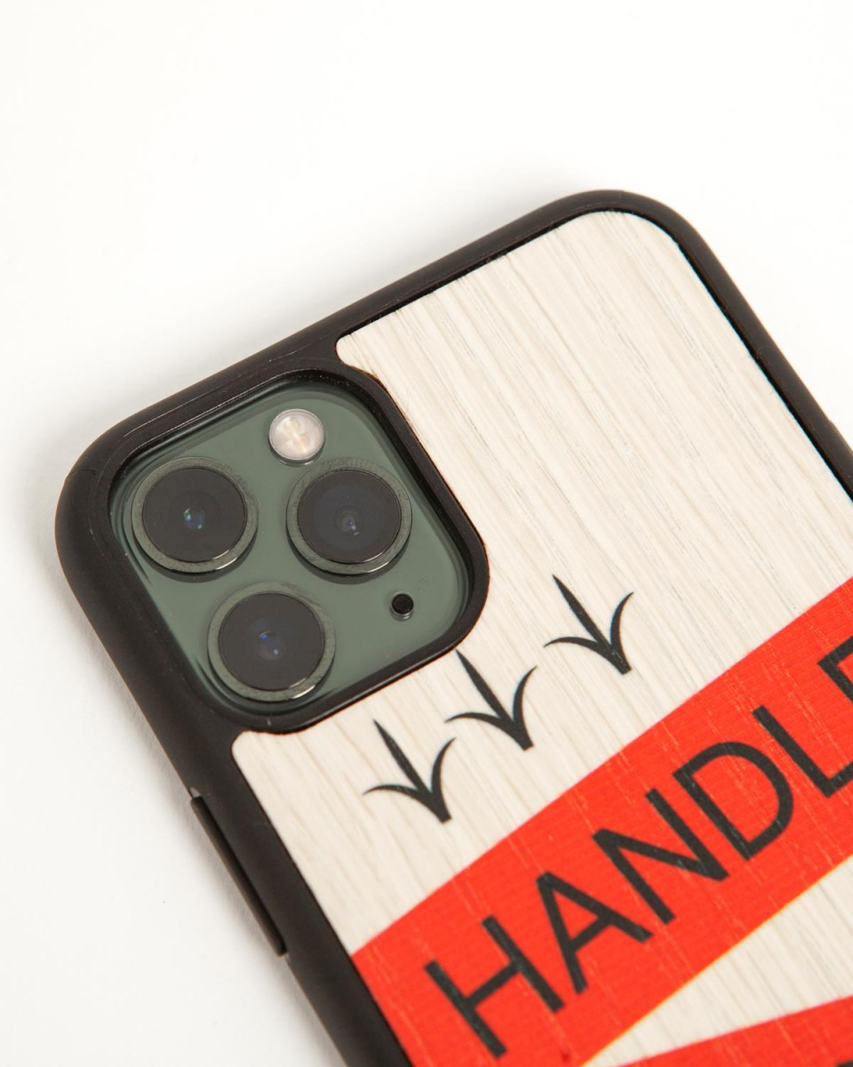 wood'd iphone cover handle without care - side