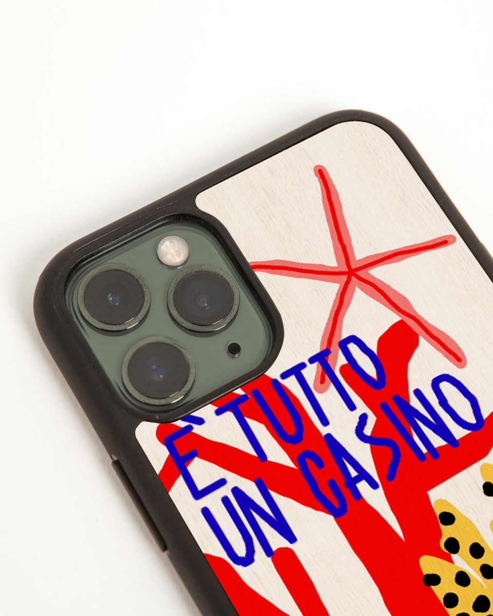 casino iphone 11 pro case by wood'd - side