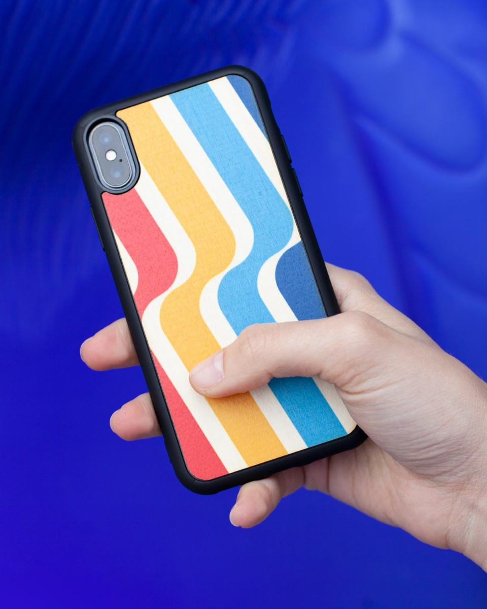 stripes wood'd cover iphone 11 pro - front