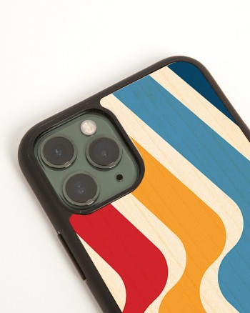 stripes wood'd cover iphone 11 pro - side