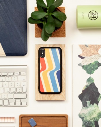 stripes wood'd cover iphone 11 pro - back