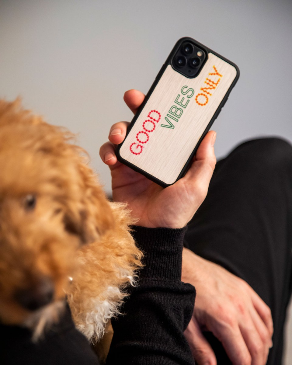 Good Vibes iPhone Case by WOOD'D