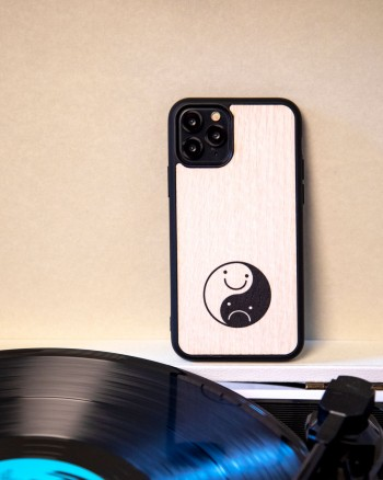 Happy Sad iPhone Case by WOOD'D
