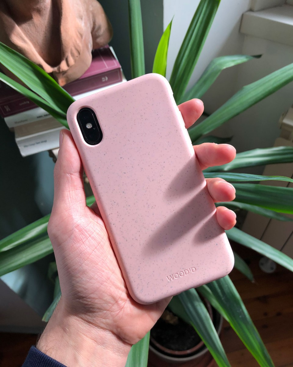 Compostable Biodegradable Case by Wood'd - pink