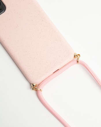 Necklace Cover by Wood'd | Compostable Pink