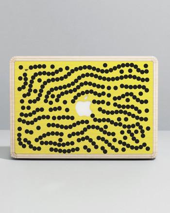 Macbook Skin - Yellow Dots