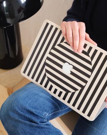 Macbook Skin - Black Grid