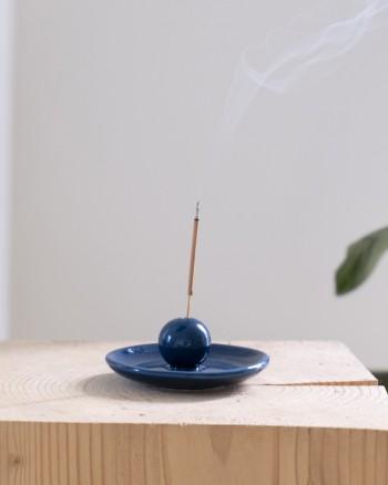 INCENSE PLATE BLUE