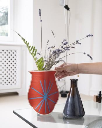 Etnic Red Vase